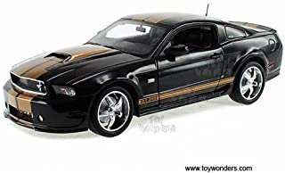 Sc323abk Shelby - Ford Shelby Gt350 Hard Top (2012, 1:18, Black w/ Gold Stripes) Sc323a Diecast Car Model 1 18 Vehicle Toy Auto Automobile Metal