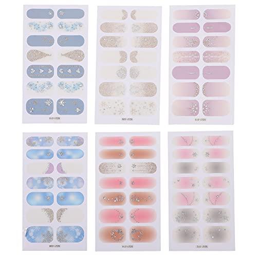 Minkissy 6 Piezas de Lápiz Navideñas para Uñas Lápiz con Puntas de Manicura de Navidad Lápiz para Decoración de Uñas de Fiesta Estacional Párr Mujer Decoración de Uñas Estilo