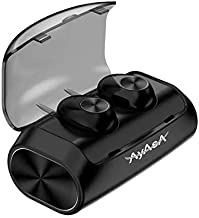 AyAsA Waterproof Wireless Earbuds with Mic–V5.0 Realtek Bluetooth Earphones, Water Resistant – True Wireless Bluetooth Ear Buds with 2600m Charging Case – Wireless Earbuds for iPhone, Android and More