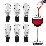 DINGJIN Lot de 6Aérateur de vin Bec verseur Premium Bouteille Decanter Aérateur pour Bec verseur Bouchon de Bouteille