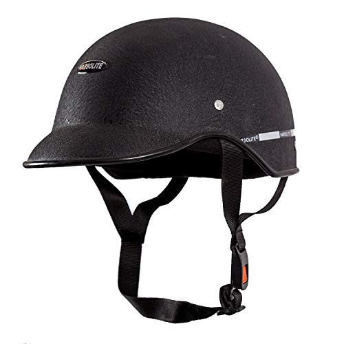 Habsolite All Purpose Safety Helmet with Strap (Black, Free Size)