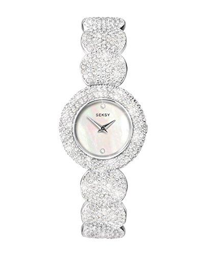 Seksy 4851.37, orologio da donna, quadrante madreperla, bracciale realizzato con 579cristalli Swarovski