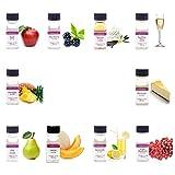 LorAnn Super Strength Pack #4 of 10 Fruity & more Flavors in 1 dram bottles (.0125 fl oz - 3.7ml) bottles