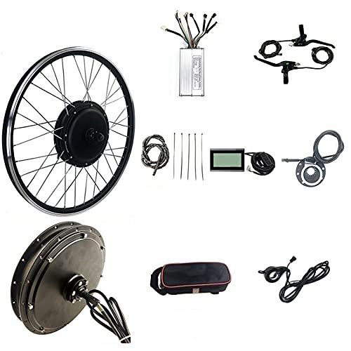 SKYWPOJU Kit de conversión de Bicicleta eléctrica, 48 V 1500 W Kit de Bicicleta eléctrica con Pantalla KT-LCD3, 20'24' 26'27,5' 28'29' 700C Rueda Trasera, Motor de Cubo sin Engranajes sin escobilla