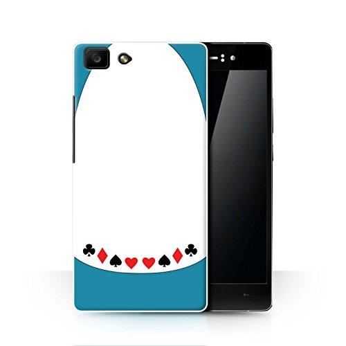 Hülle Für Oppo R5 Fantasie-W&erland-Kunst Alice/Spielkarten Design Transparent Ultra Dünn Klar Hart Schutz Handyhülle Hülle