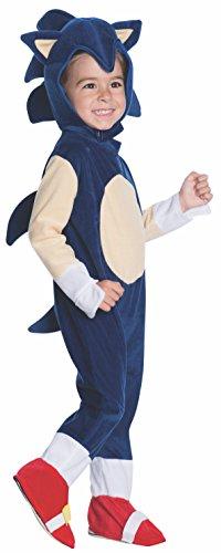 birthdayexpress kids costumes Rubie's Baby Boys' Sonic Romper Costume, Multi, 1-2 Years