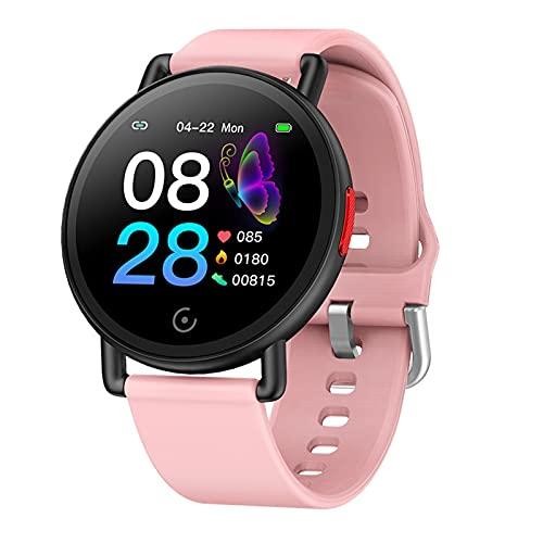 ZYDZ G22 Bluetooth Smart Watch Rastreador de Fitness Color IPS Pantalla Presión Arterial Ejercicio Inteligente Ejercicio Fitness Podómetro Relaje Rateo Tasa cardíaca para Android iOS,C