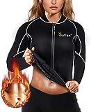 Women Hot Sweat Workout Shirt Neoprene Body Shaper Sauna Jacket Suit Workout Long Training Clothes...