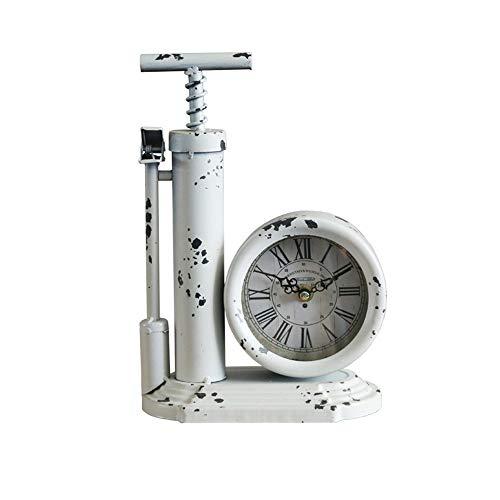 MGWA Ornamente. Retro Dekoration Uhr Reifen Luftgewehr Form Uhr Bar Café Dekoration Uhr Büro Desktop Display