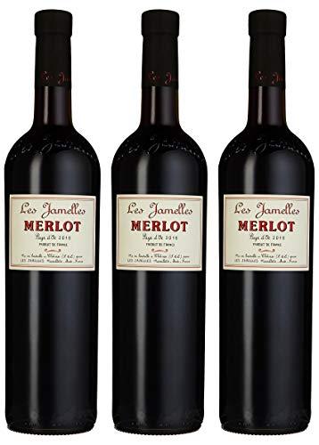 Les Jamelles Merlot Pays d\'Oc IGP / trocken (3 x 0.75 l)