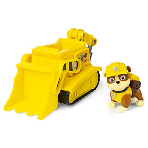Paw Patrol, Rubble's Bulldozer Vehicle with Collectible Figure, for Kids Aged 3 and Up