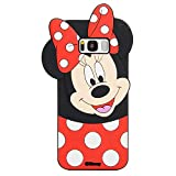 EMF Cute Mouse Case for Samsung Galaxy S8,3D Cartoon Animal Silicone Rubber Protective Kawaii Funny Character Cover,Animated Fun Cool Skin Case for Kids Teens Girls Guys (Samsung Galaxy S8)