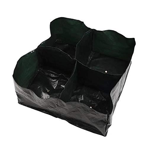 Subobo Pflanzenwachstumstaschen, Garten-Gemüsepflanzer Tasche 4 Taschen Wachsende Behälter-Beutel-Beutel-Topfpflanzen Seeding Pflanztaschen Grün Seit Jahren wiederverwendbar