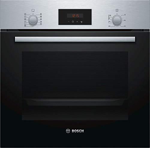 Bosch HBF174ER0 Horno multifunción Cristal negro con acero inoxidable