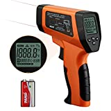 Infrared Thermometer Gun Laser for Cooking, Inkbird Dual Laser Temperature Guns for Pizza Ovens Grilling Reptile BBQ Car, -58℉~1382℉, DS Ratio 16:1 Non Contact Thermometers (NOT for Human)