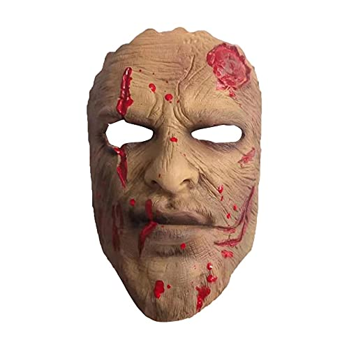 Máscara facial assustador do demônio meio demônio látex cosplay máscaras fantasias de halloween adereços máscara adulta para o dia das bruxas