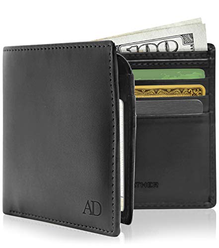 Vegan Leather Bifold Wallets For Men - Cruelty Free Non Leather Mens Wallet With ID Window Gifts For...