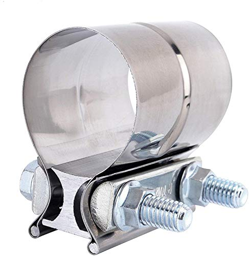 """EVIL ENERGY 2.5"""" Lap Joint Exhaust Band Clamp Exhaust Repair Preformed 304 Stainless Steel"""