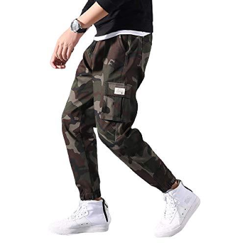 Zestion Mens Camouflage Cargo Pants Locker geschnittene, Sich verjüngende Kampfhose mit Seitentaschen Outdoor Work Travel Knöchellange Hose 6X-Large