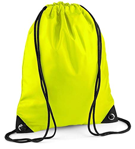 ShirtInStyle Sportbeutel, Gymnastikbeutel, Gymsac, Schuhbeutel mit Kordel viele Farbe fluorescentyellow