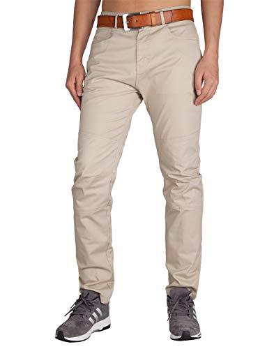 ITALY MORN Chinos Pantalones Beige Niño Algodon Hombre Slim Fit (Crema Caqui, 38)