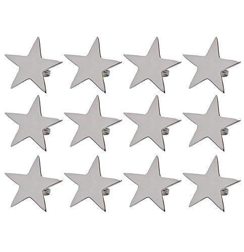 DII Ronds de Serviette pour dîners, Métal, Silver Star, 1.78-inch by 2-1/4-inch