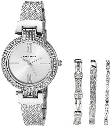 Anne Klein AK/3584 - Juego de reloj y pulsera para mujer con cristales Swarovski