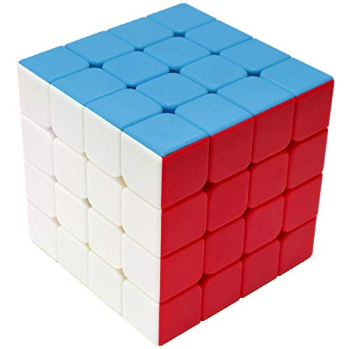 Maomaoyu Zauberwürfel 4x4 4x4x4 Original Speed Cube Stickerless Magic Cube Puzzle Magischer Würfel PVC Aufkleber für Schneller und Präziser mit Lebendigen Farben