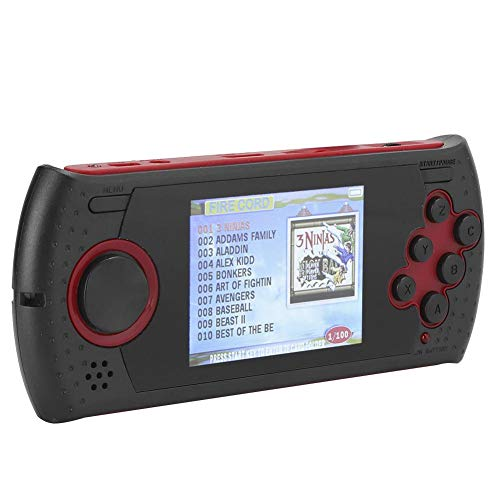 Mini Handheld Game Console met ingebouwde 100 klassieke spellen, 1GB geheugen, ondersteuning voor JPEG/BMP Picture Browsing, Koptelefoonuitgang, E-book, Ideaal cadeau(rood)