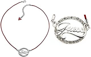 Guess Women's Textile Guess Logo Necklace
