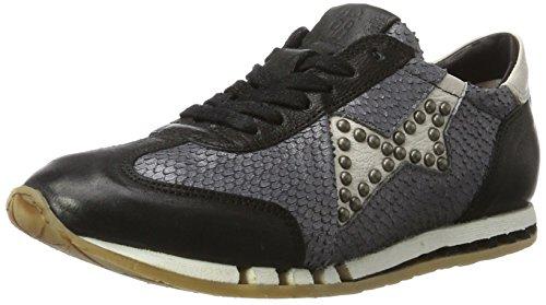 A.S.98 Damen Trip Sneaker, Schwarz (Nero/Mirtillo/Bianco/Nero/Bianco), 36 EU