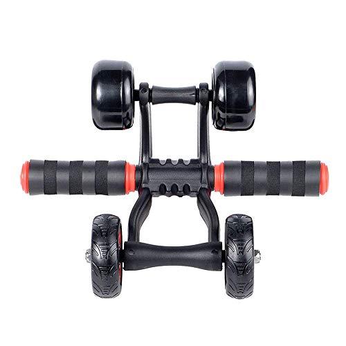 Jsmhh Core & Bauchtrainer Rad Bauchmuskeln Fitness Roller und Knie-Pad und die Bremsplatte for Home Gym Workouts Unisex Geeignet for Home Fitness (Farbe: Rot, Größe: Freie Größe) sit up trainingsgert