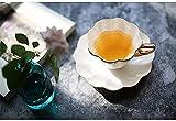 TUZIOUBA Taza de té de la Tarde Hueso China Taza de té Taza de té de Gama Alta Pintada Té Negro británico Tazas de café y platillos Set de 180 ml Copas de café Espresso (Capacity : 180ML, Color : A)