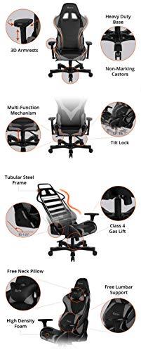 CLUTCH CHAIRZ Throttle Series Alpha Premium Gaming Chair (Black/White)