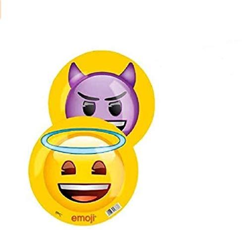 Happy People GmbH + Co. KG Emoji - Buntball - Gummiball - Kunststoffball - Engelchen und Teufelchen - Durchmesser: 23 cm