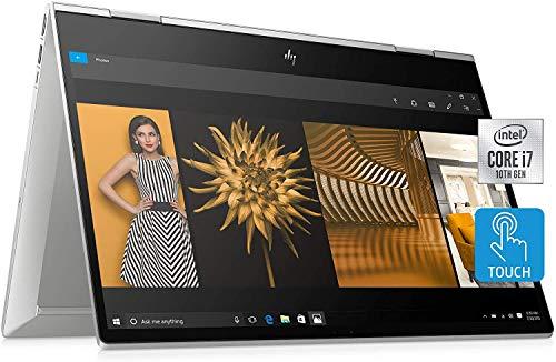 2020 HP Envy x360 2-in-1 15.6' FHD Touch Laptop Computer, 10th Intel Core i7-10510U, 32GB RAM, 1TB PCIe SSD, HD Webcam, B&O Audio, Intel UHD Graphics, HDMI, Win 10, Silver, 32GB SnowBell USB Card