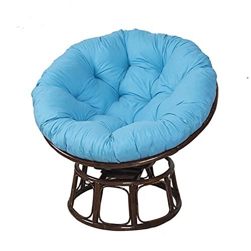 ZJHTK Cojín de mimbre redondo para colgar en la silla, cojín de asiento de balancín, cojín de mimbre suave, para colgar silla, nido, alfombrilla suave, color azul