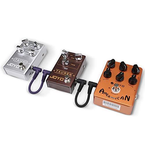 """Asmuse Guitarra Cable Patch 15.5cm, Silent Jack Cable 1/4"""" 6.3mm Double Shielded Pedalboard Leads para Guitarra/Bajo Pedales de Efectos Instrumento Alambre (Pack de 6)"""