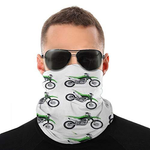 Green Dirt Bike Baseball Face Cover Bandanas,Dust Wind Durable Tube Mask Scarf Neck Gaiter for Men Women Kids Child