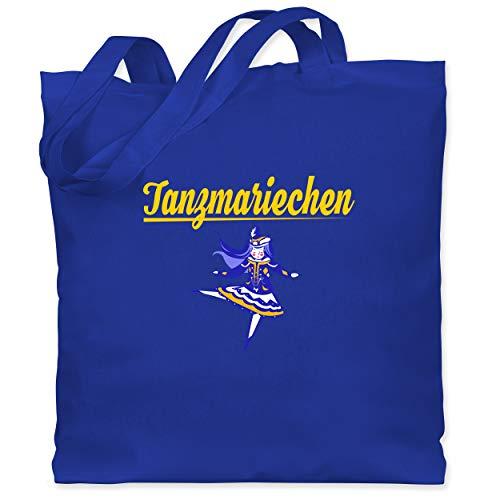 Shirtracer Karneval & Fasching - Tanzmariechen blau - Unisize - Royalblau - Verkleidung Kostüm - WM101 - Stoffbeutel aus Baumwolle Jutebeutel lange Henkel