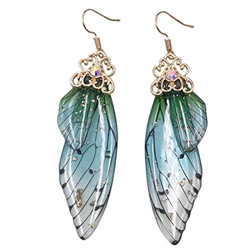 CHUN Pendientes con alas de Mariposa, Pendientes Largos con Forma de Gota de Insectos, Pendientes...