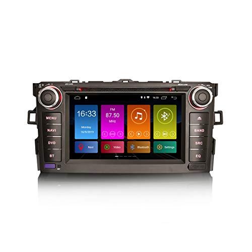 ERISIN 7 Pulgadas Android 10.0 Estéreo de Automóvil para Toyota AURIS Corolla ALTIS Reproductor de DVD Soporte Bluetooth WiFi 4G Dab + RDS Enlace Espejo TPMS CarPlay Incorporado Amplificador DSP