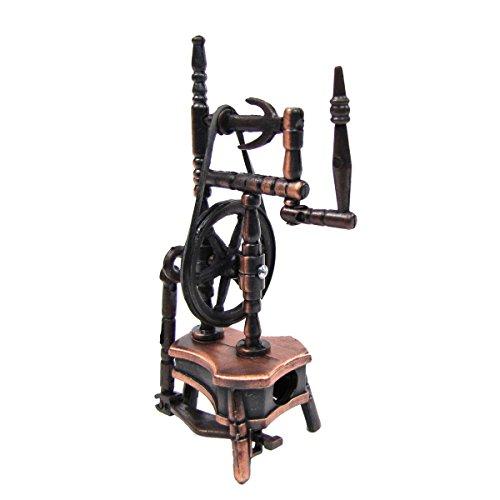 TG,LLC Treasure Gurus 1:12 Scale Miniature Dollhouse Replica Spinning Wheel Die Cast Pencil Sharpener