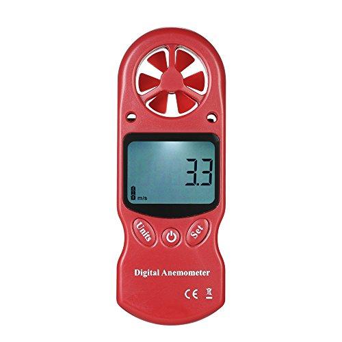Fesjoy Windmesser,Windmesser 8 in 1 Windgeschwindigkeit/Temperatur/Luftfeuchtigkeit/Kalter Wind/Wärmeindex/Taupunkt/Luftdruck/Höhenmesser