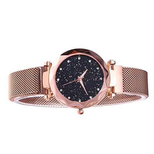 El Regalo de Las Mujeres de la Estrella Sky Watch Malla Banda de Cuarzo analógico Reloj de Pulsera Pulsera de la Novia de Vacaciones