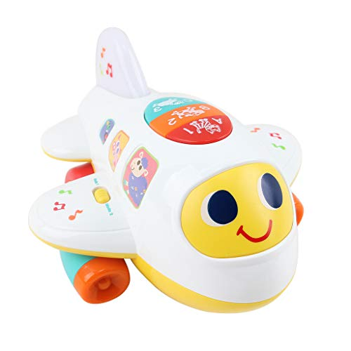 Lowest Price! giokfine Baby Toys Electronic Airplane Toys with Lights & Music,Best Kids Early Learni...