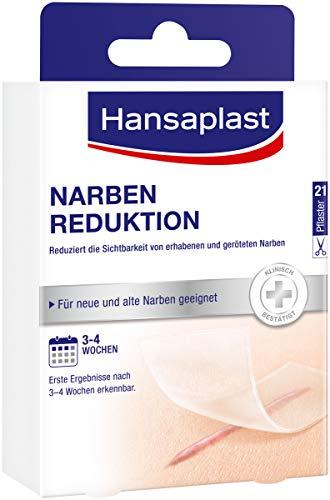 Hansaplast Narben Reduktion, Narbenpflaster zur Reduktion der Sichtbarkeit von Narben, macht Narben dauerhaft flacher, heller und weicher, 1 x 21 Stück, (3,8 cm x 6,8 cm) 02728-00000-25