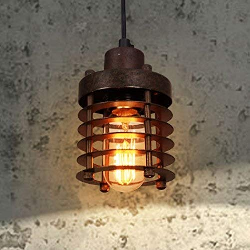 Luce Plafoniera Accesorios de iluminación Óxido de metal Jaula Porche Lámparas colgantes de techo Corredor antiguo americano Luces colgantes Loft Barra de bar industrial