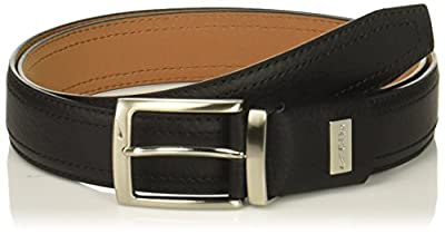 Nike Men's Standard G-Flex Pebble Grain Leather Belt, black, 36
