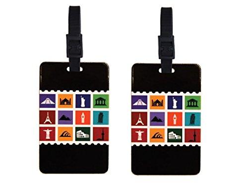 ORB Travel 2–Pack Equipaje Identificación Acollador de Tarjeta ID Juego de 2Punto de Palabras, maletín de Pegatinas Multi-Colour-PT207